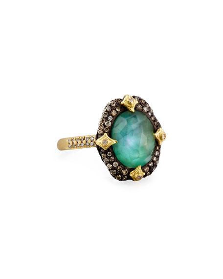 Old World Pavé Crivelli Ring with Diamonds