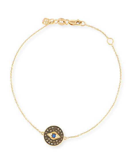 Evil Eye Medallion Bracelet with Diamonds