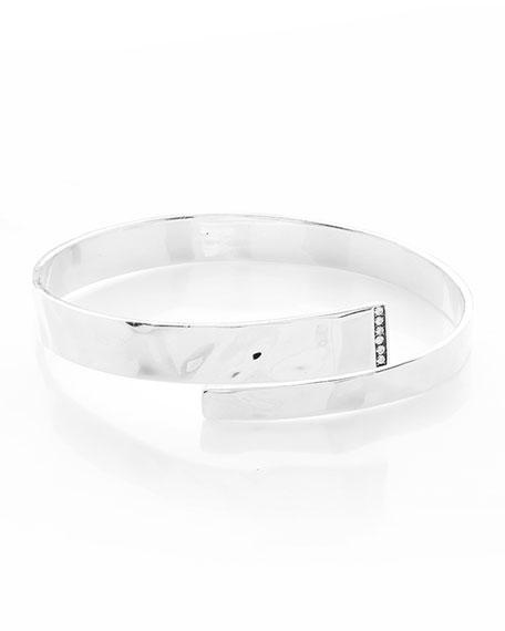 925 Senso&#153 Hinge Bypass Bangle Bracelet with Diamonds