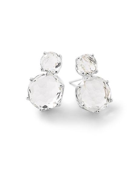 Rock Candy® Two-Stone Earrings in Clear Quartz