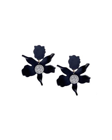Lele Sadoughi Crystal Lily Earrings, Black