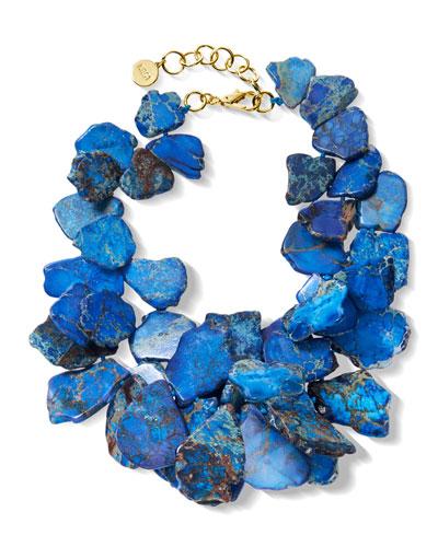 Blue Jasper Cluster Necklace