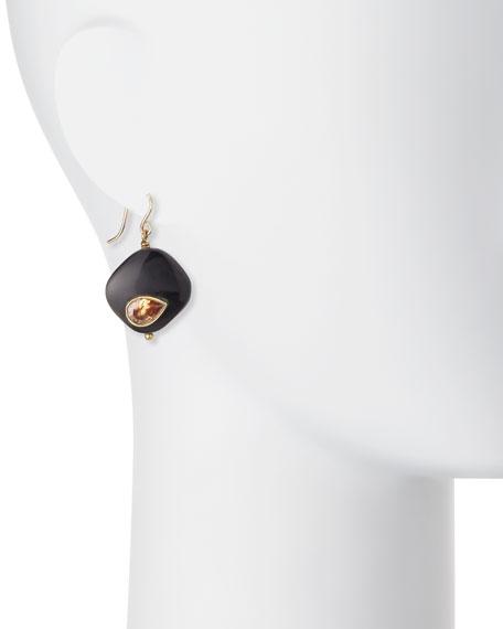 Sanamu Dark Horn Mini Drop Earrings