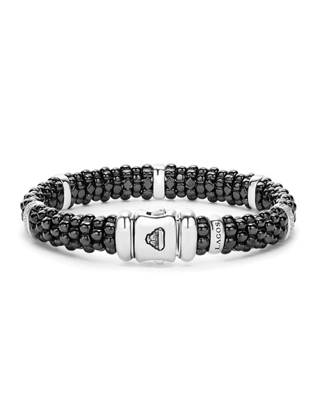 Black Caviar Ceramic Bracelet with Diamonds