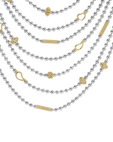 Icon Multi-Strand Caviar Bead Necklace