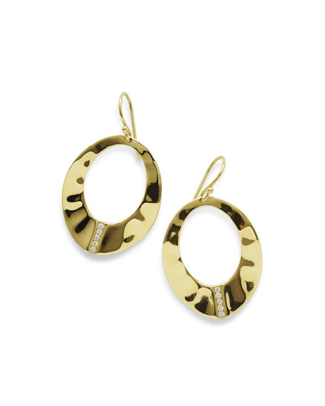 Ippolita 18K Senso Open Wavy Disc Earrings with