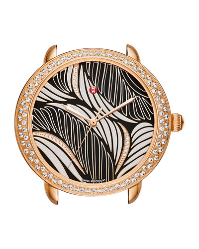 16mm Serein Diamond Willow Watch Head in Rose-Gold Plate