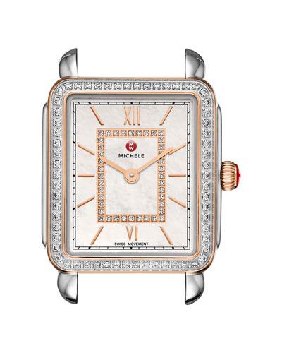 16mm Deco II Midsize Diamond Watch Head, Rose Gold/Silver