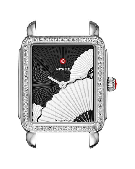 MICHELE Deco II Midsize Diamond Fan Watch Head,