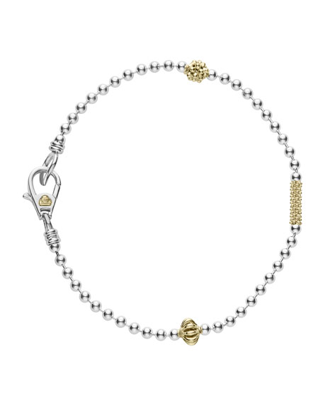 Lagos Caviar Icon 1-Row Ball-Chain Bracelet