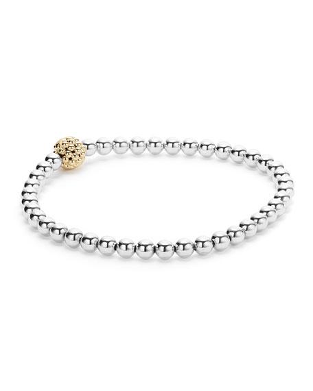 Caviar Icon Ball Stretch Bracelet, Size Medium