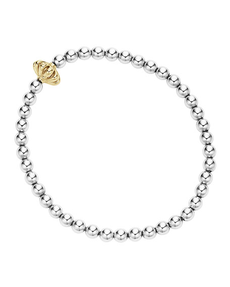 Icon Sterling Silver Caviar Ball Bracelet, Size Medium