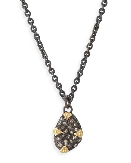 Old World Diamond Bean Necklace