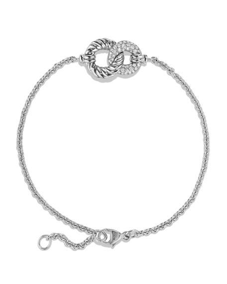 Belmont Single Station Bracelet with Diamonds in 18K White Gold