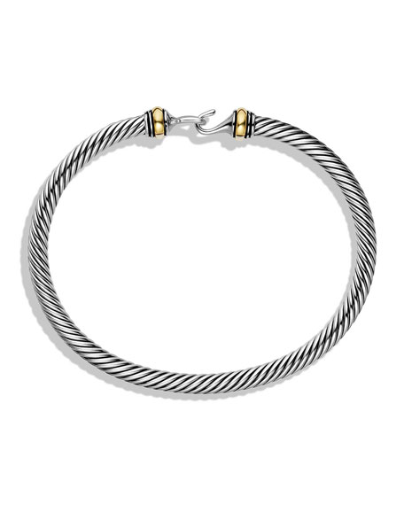 Silver/Gold Cable Buckle Bracelet