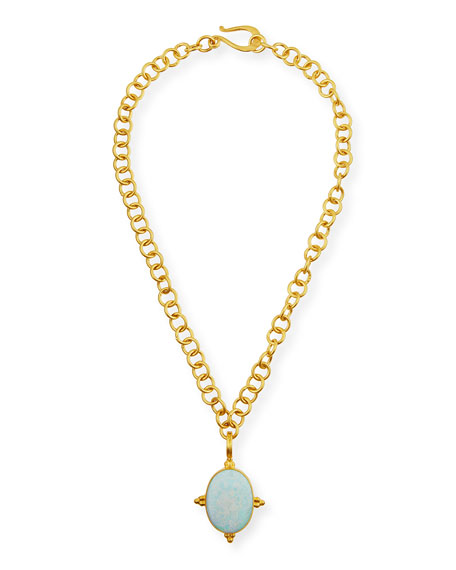 """Adjustable 18K Gold-Plated Chain Necklace, 18"""""""