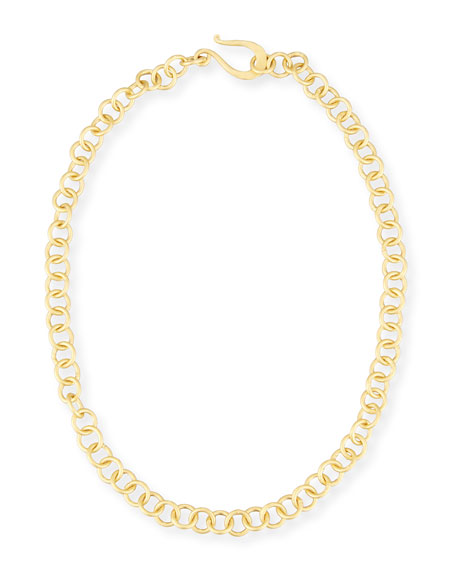 Dina Mackney Adjustable 18K Gold-Plated Chain Necklace, 18