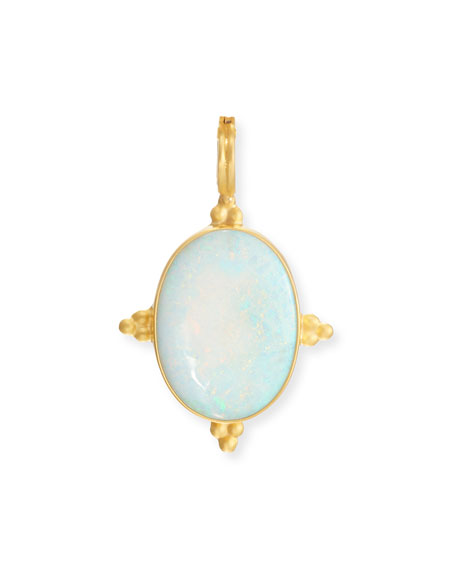 Dina Mackney Opal Enhancer in 18K Gold Vermeil F8KF1dYY
