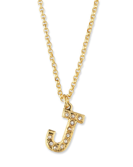 Pave Diamond Initial Pendant Necklace in 14K Gold