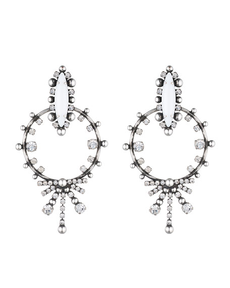 Dannijo Anja Crystal Statement Earrings