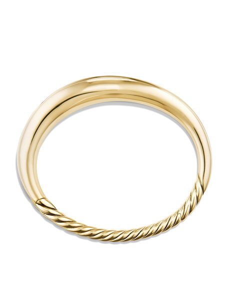 9.5mm Pure Form Large Smooth Bracelet in 18K Gold, Size L