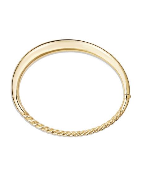 6.5mm Large Pure Form Hinge Bracelet in 18K Gold