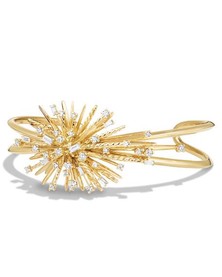 David Yurman Supernova Cuff Bracelet with Diamonds in 18K Gold