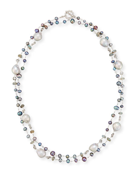 Stephen Dweck Beaded Necklace with Baroque Pearls