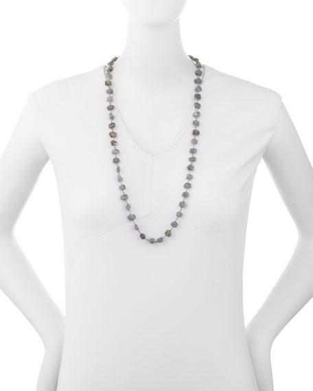 "Freeform Labradorite Single-Strand Necklace, 32"""