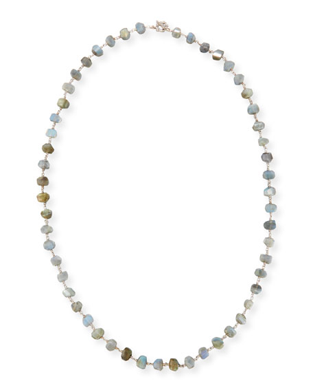 Freeform Labradorite Single-Strand Necklace, 32""