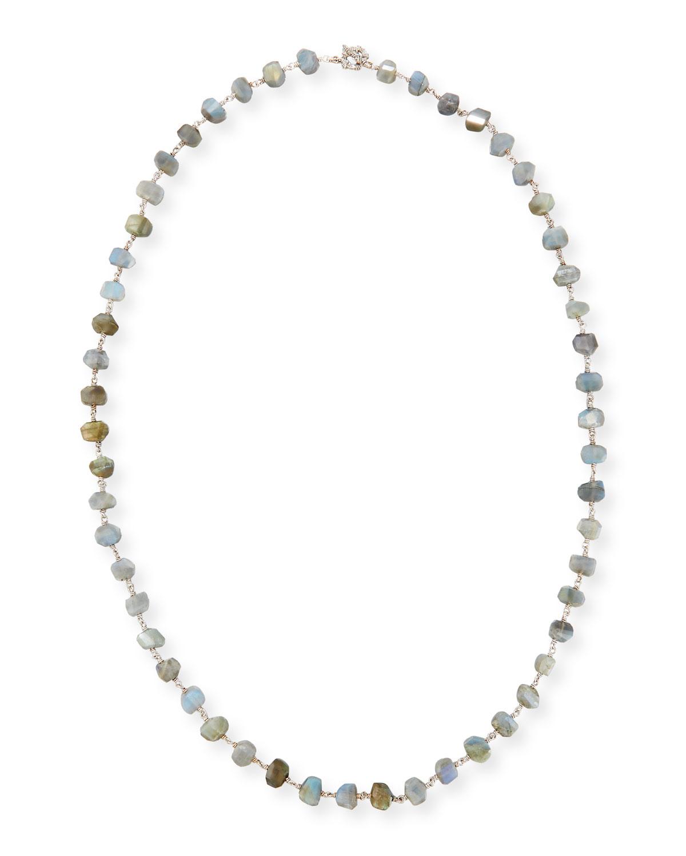 Stephen Dweck Long Champagne Pearl Single-Strand Necklace 8afia8R