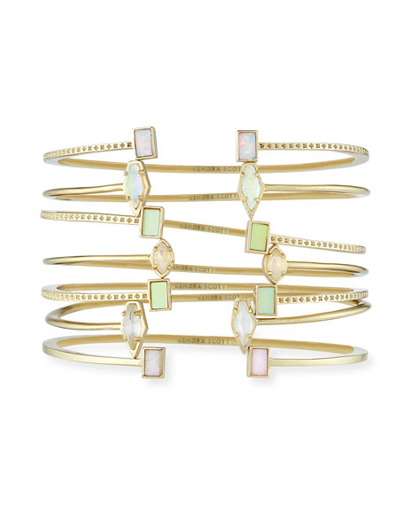 Kendra Scott Kinsley Bracelet Set in Yellow Gold