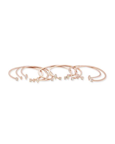 Kinsley Bracelet Set in Rose Gold Plate