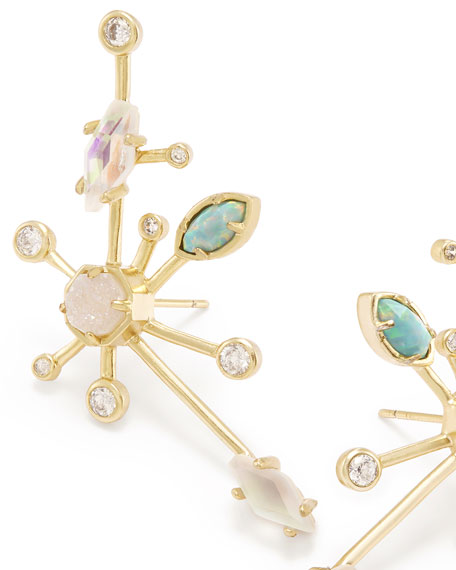 Matilda Statement Earrings in Yellow Gold Plate