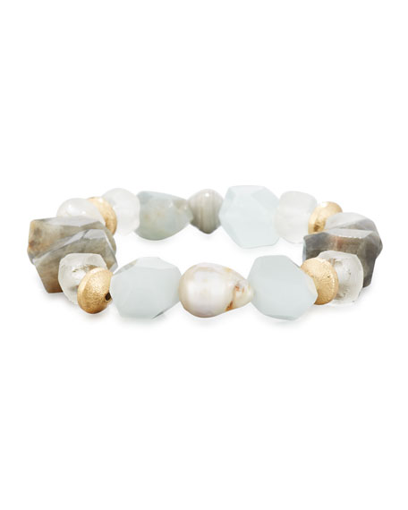 Akola Crystal Nugget Bracelet, Blue/Gray