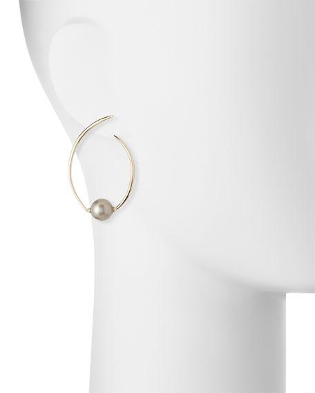 Coiled Pearly Hoop Earrings