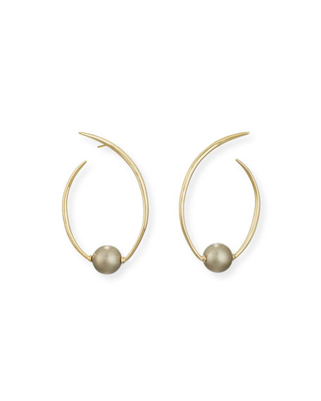 Alexis Bittar Coiled Pearly Hoop Earrings