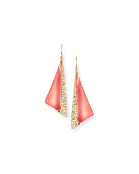 Alexis Bittar Futurist Crystal-Trim Drop Earrings