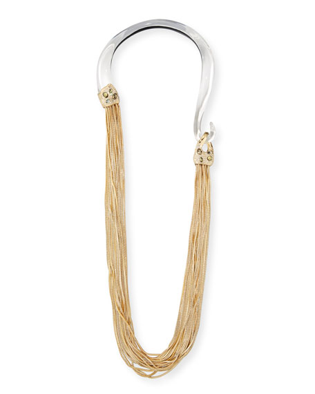 Alexis Bittar Two-Tone Long Chain Draping Necklace