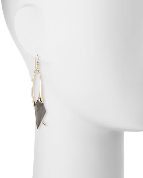 Elongated Wire Drop Earrings