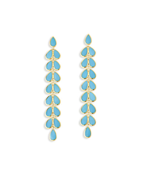 Polished 18K Rock Candy Drop Earrings in Turquoise