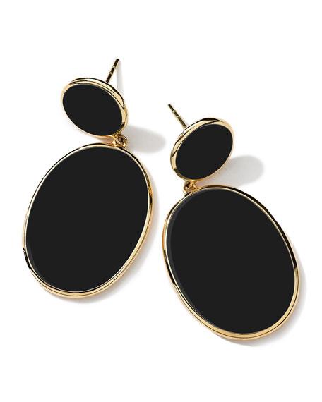 18K Rock Candy Black Mother-of-Pearl Snowman Earrings