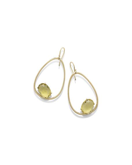 Ippolita 18K Rock Candy Tipped Oval Wire Earrings v6UpXQZ9Jt