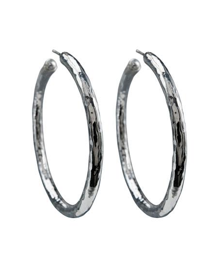 Ippolita 925 Glamazon #4 Skinny Bastille Hoop Earrings