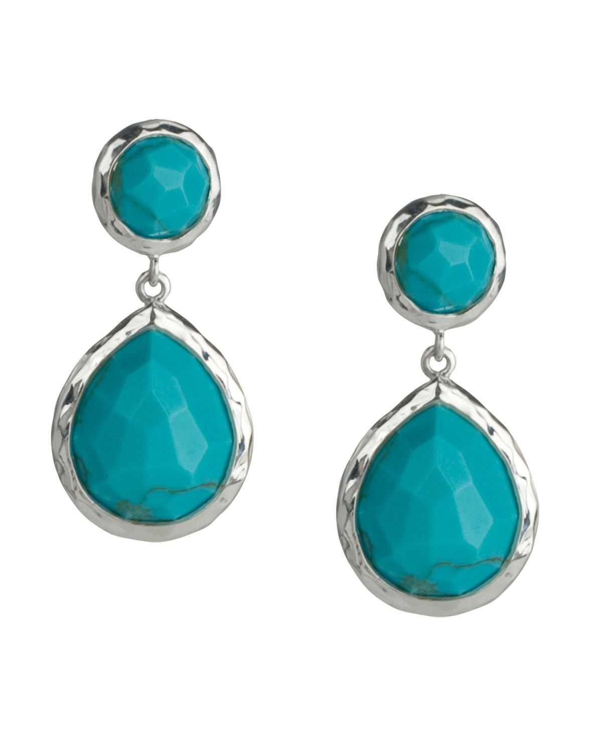 925 Rock Candy Snowman Earrings In Turquoise
