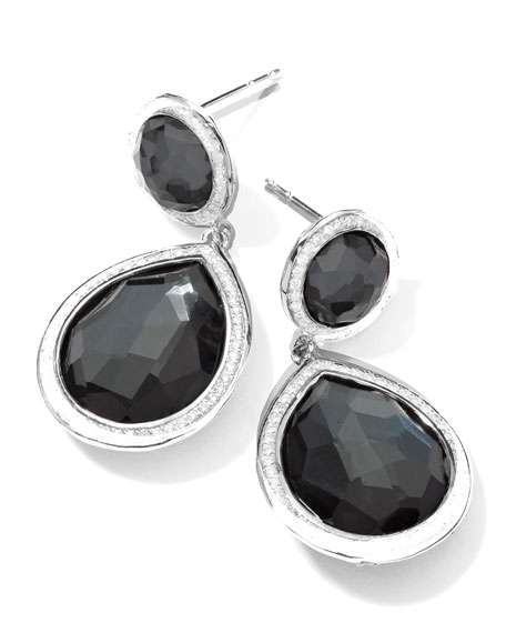 Ippolita Stella 2-Stone Drop Earrings in Hematite &