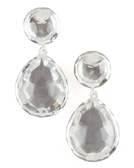 Ippolita 925 Rock Candy Snowman Earrings in Clear
