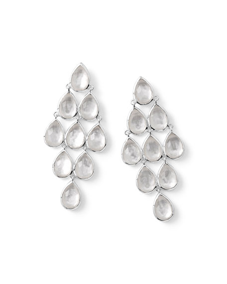 925 Rock Candy Teardrop Cascade Earrings in Mother-of-Pearl