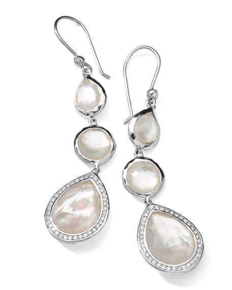 Ippolita Stella 3-Drop Earrings in Mother-of-Pearl & Diamonds