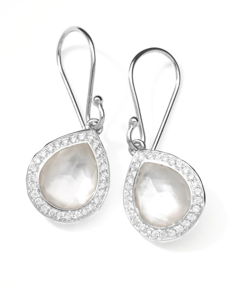 Ippolita Rock Candy Teardrop Earrings in Mother-of-Pearl Doublet